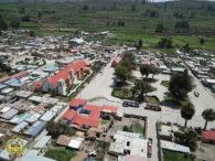 Vista aerea Drone Pamapacolca.com pueblo Pampacolca
